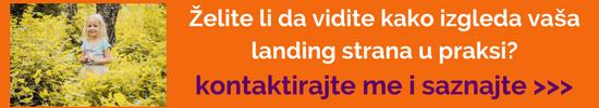 Želite li da vidite kako izgleda vaša landing strana u praksi?