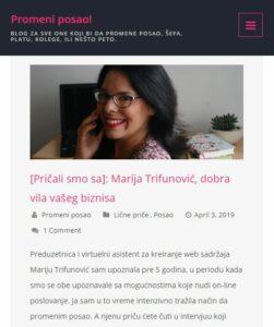 Intervju za blog Promeni posao